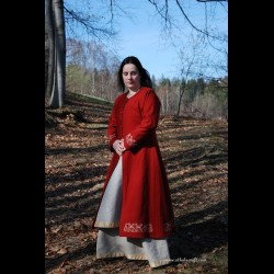 Red lady Viking coat