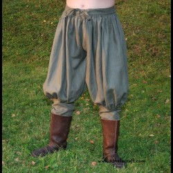 Rus Viking trousers from linen - khaki