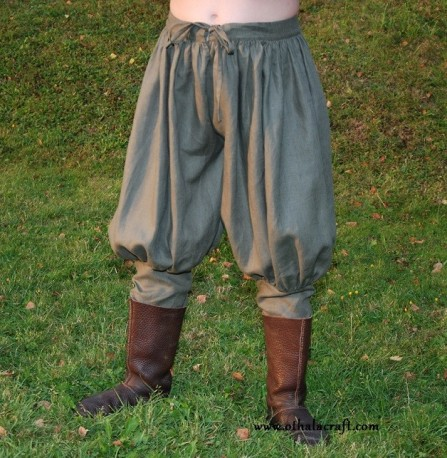 Rus Viking trousers from linen - khaki - XXXXL size
