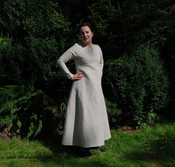 Simple Linen Viking Dress Othalacraft