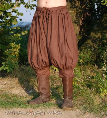 Rus Viking trousers from dark brown wool