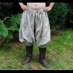 Rus Viking trousers from natural linen