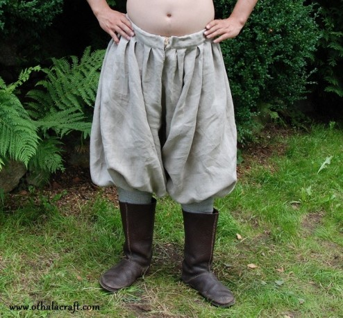 Rus Viking trousers from natural linen XXL size