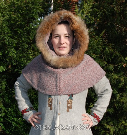 Woolen hood from Hedeby - diamond wool