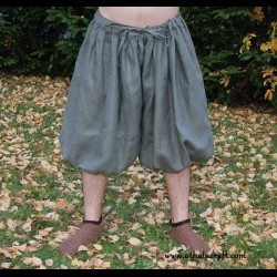 Short Rus Viking trousers from linen - khaki