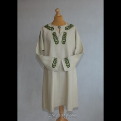 Ivory linen tunic with embroidery