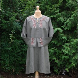 Linen shirt for Viking with embroidery
