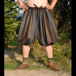 Short Rus Viking trousers from - blue and brown stripes