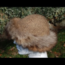 Viking hat - diamond wool, hand sewn