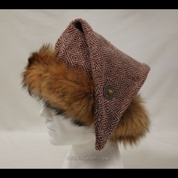 Diamond woolen triangle hat for Vikings