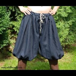 Short Rus Viking trousers from dark blue linen